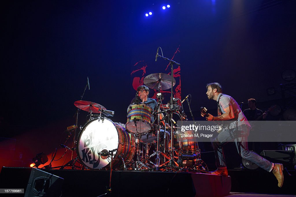 Patrick Carney and Dan Auerbach of The Black Keys perform at Olympiahalle on December 4, 2012 in Munich, Germany.