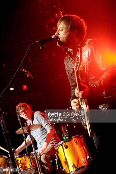 Patrick Carney and Dan Auerbach of The Black Keys perform on night two of KROQ Almost Acoustic Christmas at Gibson Amphitheatre on December 12 2010...