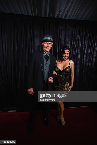 Patrick Cassidy and Melissa Hurley-Cassidy arrive at Aston Manor on March 8, 2013 in Seattle, Washington.