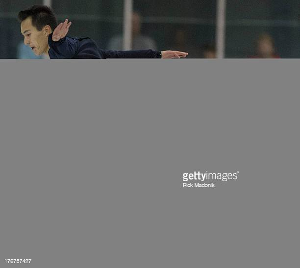 Patrick Chan closes Skate Canada Summer Skate event in Thornhill, August 18, 2013. The event was held at the Thornhill Community Centre. Chan...