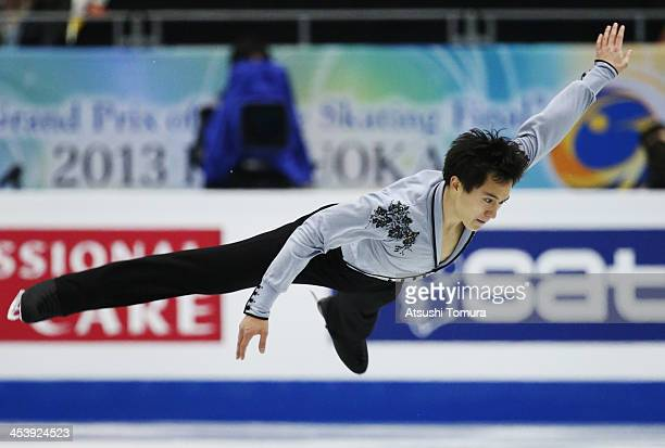 Patrick Chan of Canada compete in the men's free program during day two of the ISU Grand Prix of Figure Skating Final 2013/2014 at Marine Messe...
