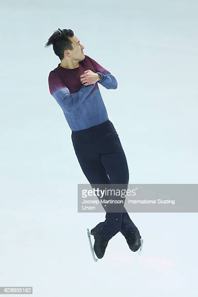 Patrick Chan of Canada competes during Senior Men's Free Skating on day three of the ISU Junior and Senior Grand Prix of Figure Skating Final at...