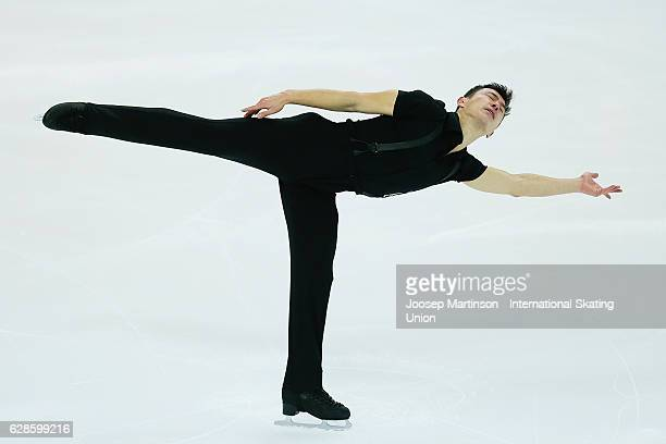 Patrick Chan of Canada competes during Senior Men's Short Program on day one of the ISU Junior and Senior Grand Prix of Figure Skating Final at...