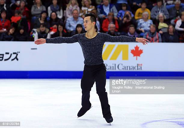 Patrick Chan of Canada competes in the Men Free Program during the ISU Grand Prix of Figure Skating Skate Canada International at Hershey Centre on...