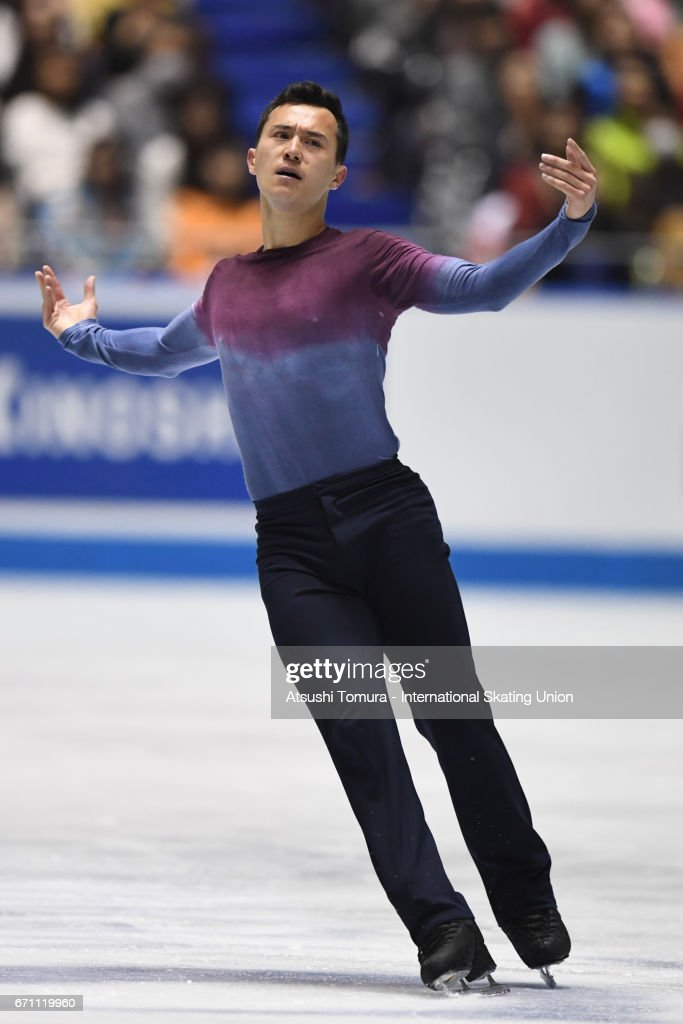 Patrick Chan of Canada competes in the Men free skating during the 2nd day of the ISU World Team Trophy 2017 on April 21, 2017 in Tokyo, Japan.