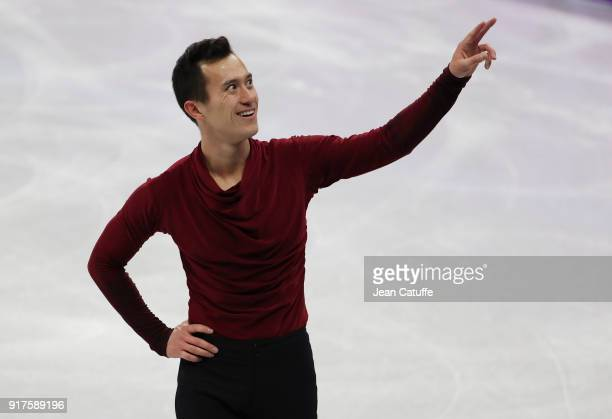 Patrick Chan of Canada competes in the Men Free Skating during the Figure Skating Team Event on day three of the PyeongChang 2018 Winter Olympic...
