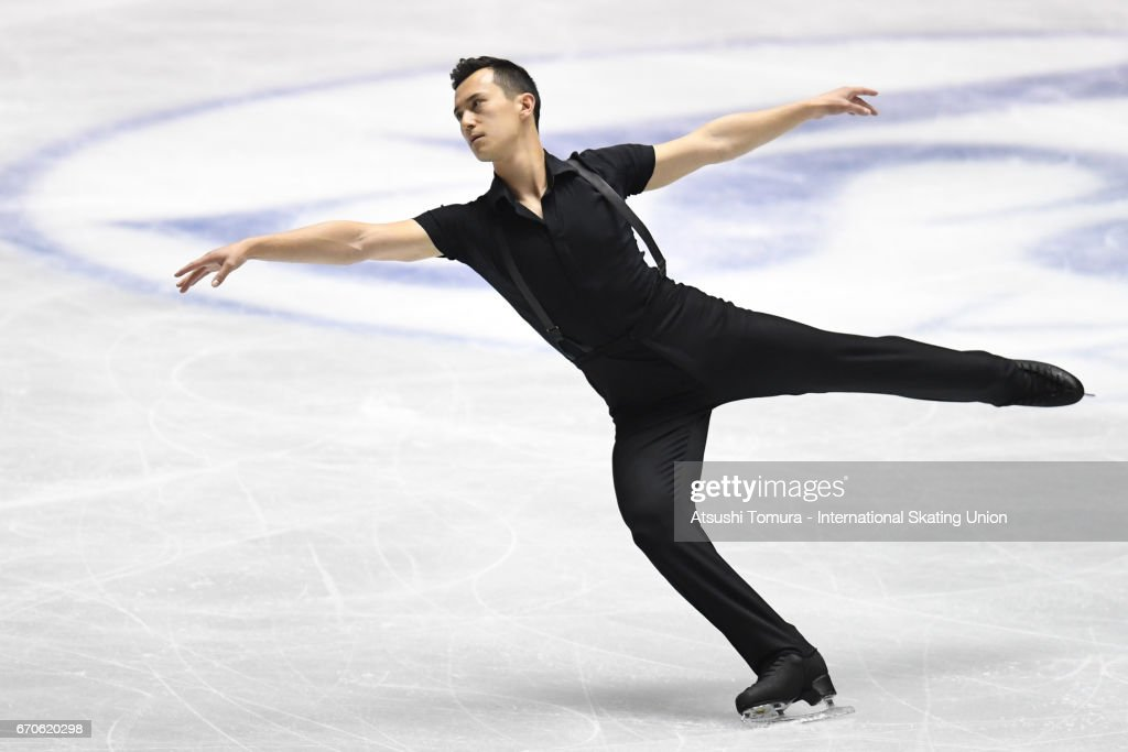Patrick Chan of Canada competes in the Men short program during the 1st day of the ISU World Team Trophy 2017 on April 20, 2017 in Tokyo, Japan.