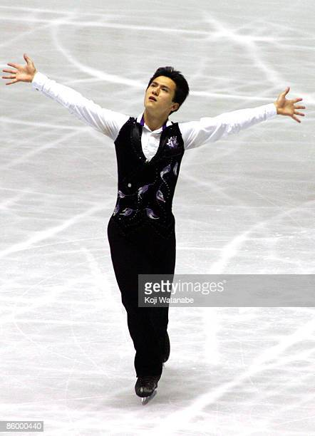 Patrick Chan of Canada competes in the Men Short program during the ISU World Team Trophy 2009 Day 1 at Yoyogi National Gymnasium on April 16, 2009...