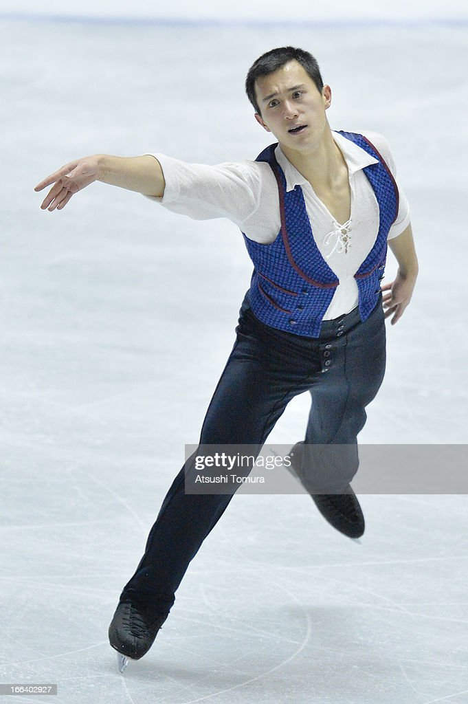 Patrick Chan of Canada competes in the men's free program during day two of the ISU World Team Trophy at Yoyogi National Gymnasium on April 12, 2013 in Tokyo, Japan.