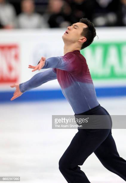 Patrick Chan of Canada competes in the Men's Singles Free Skating during day four of the World Figure Skating Championships at Hartwall Arena on...