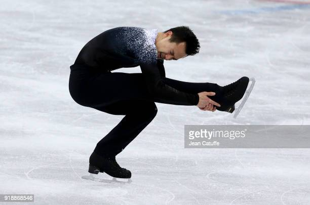 Patrick Chan of Canada during the Figure Skating Men Short Program on day seven of the PyeongChang 2018 Winter Olympic Games at Gangneung Ice Arena...