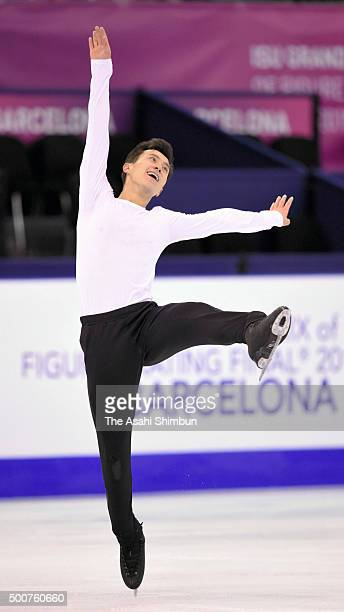 Patrick Chan of Canada in action during a training session ahead of the ISU Junior Senior Grand Prix of Figure Skating Final at the Barcelona...
