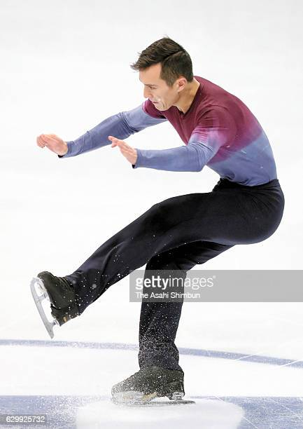 Patrick Chan of Canada loses balance while competing in the Senior Men's Singles Free Skating during day three of the ISU Junior Senior Grand Prix of...