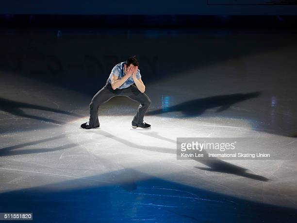 Patrick Chan of Canada performs at the Gala Exhibition on day four of the ISU Four Continents Figure Skating Championships 2016 at Taipei Arena on...