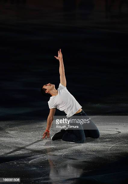 Patrick Chan of Canada performs during day four of the ISU World Team Trophy at Yoyogi National Gymnasium on April 14 2013 in Tokyo Japan