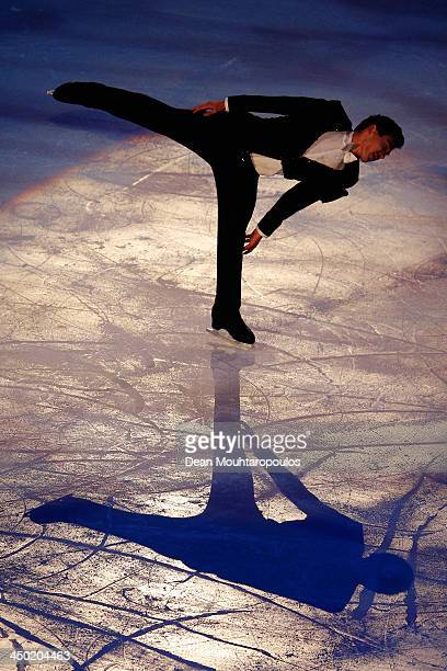 Patrick Chan of Canada performs during in the Gala Exhibition on day three of Trophee Eric Bompard ISU Grand Prix of Figure Skating 2013/2014 at the...