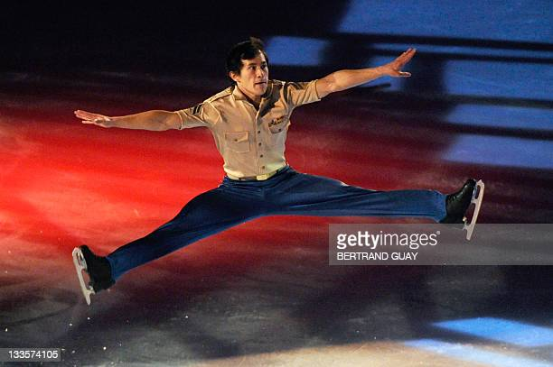 Patrick Chan of Canada performs during the exhibition gala of the Eric Bompard 2011 figure skating trophy on November 19 2011 at the Bercy...