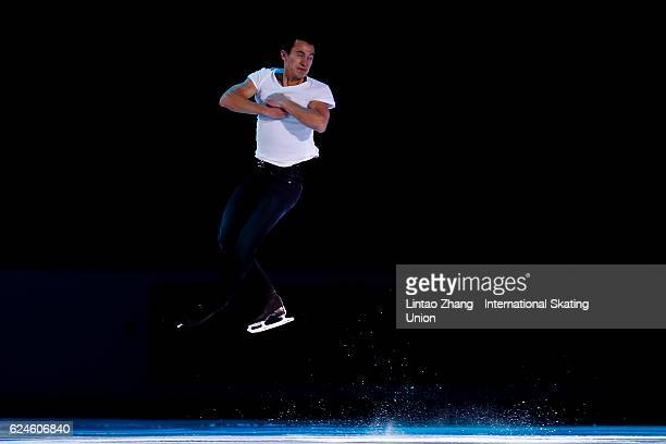 Patrick Chan of Canada performs during the Exhibition Program on day three of Audi Cup of China ISU Grand Prix of Figure Skating 2016 at Beijing...