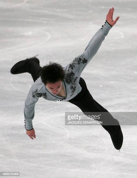 Patrick Chan of Canada performs during the figure skating event at the 2013 Eric Bompard trophy on November 16 2013 at the Bercy PalaisOmnisport in...