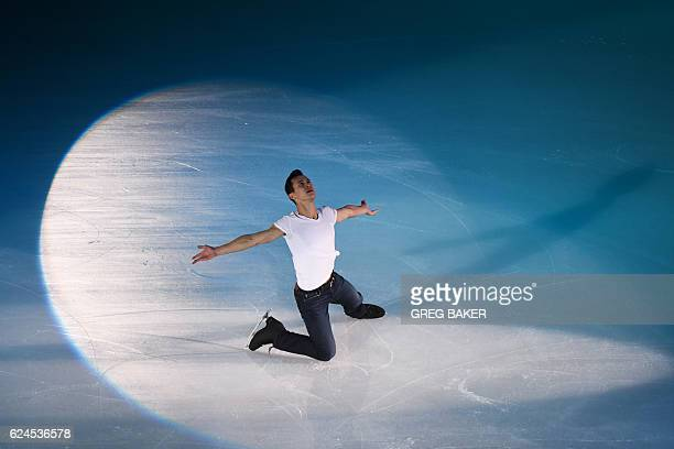 Patrick Chan of Canada performs during the gala exhibition at the Cup of China ISU Grand Prix of Figure Skating in Beijing on November 20 2016 / AFP...