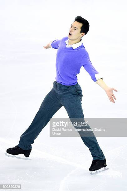 Patrick Chan of Canada performs during the Men short program final during day one of the ISU Grand Prix of Figure Skating Final 2015/2016 at the...
