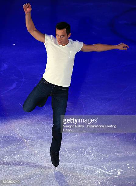 Patrick Chan of Canada performs in the Exhibition Gala during the ISU Grand Prix of Figure Skating Skate Canada International at Hershey Centre on...