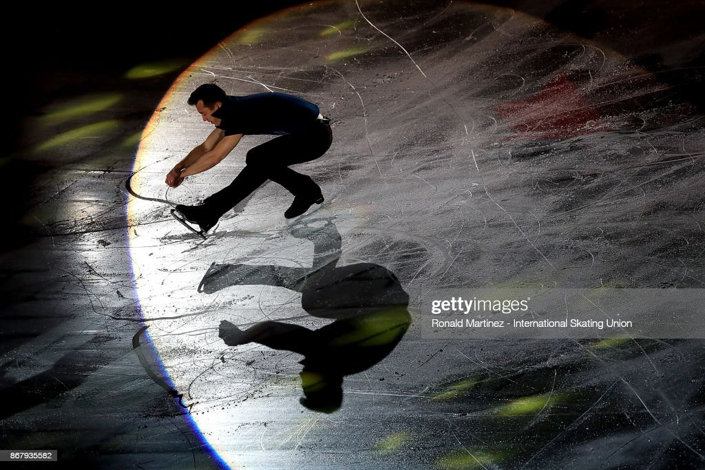 Patrick Chan of Canada performs in the exhibition gala during the ISU Grand Prix of Figure Skating at Brandt Centre on October 29, 2017 in Regina, Canada.