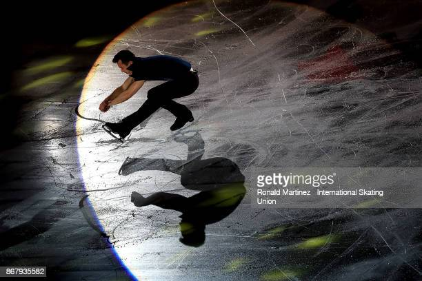 Patrick Chan of Canada performs in the exhibition gala during the ISU Grand Prix of Figure Skating at Brandt Centre on October 29 2017 in Regina...