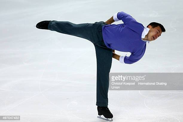 Patrick Chan of Canada skate during men short program of the ISU Grand Prix at Meriadeck Ice Rink on November 13 2015 in Bordeaux France