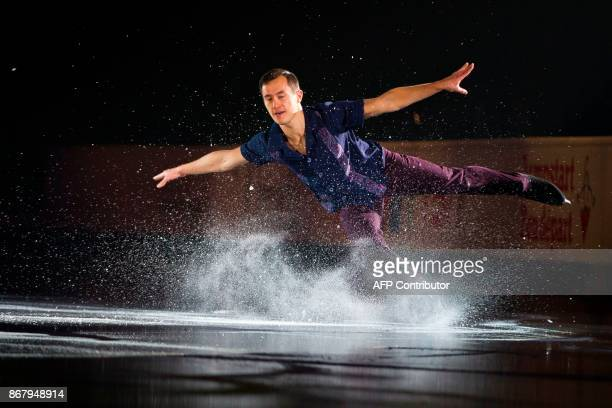 Patrick Chan of Canada skates his exhibition program at the ISU Grand Prix of Figure Skating's Skate Canada International at Brandt Centre in Regina...