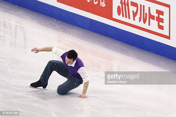 Patrick Chan of Canada skates in the Men's Short program during day 3 of the ISU World Figure Skating Championships 2016 at TD Garden on March 30...