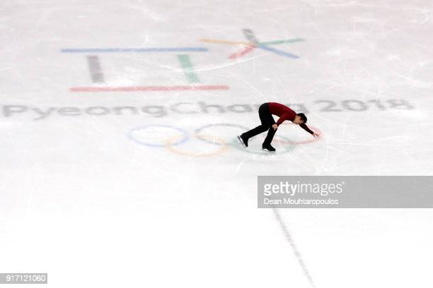 Patrick Chan of Canada stumbles during his routine in the Figure Skating Team Event – Men's Single Free Skating on day three of the PyeongChang 2018...