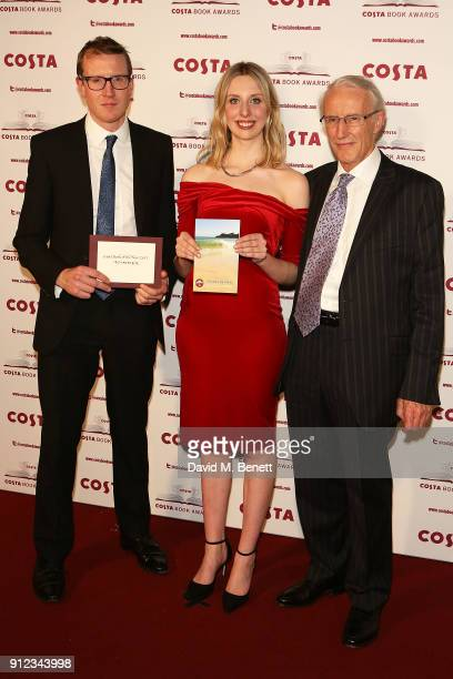 Patrick Charnley Tess Charnley and Frank Charnley attend the Costa Book Awards at Quaglino's on January 30 2018 in London England