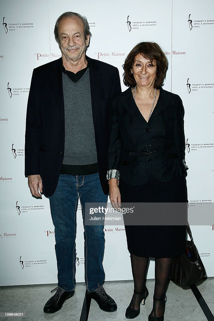 Patrick Chesnais and his wife attend 'La Petite Maison De Nicole' Inauguration Photocall at Hotel Fouquet's Barriere on January 21, 2013 in Paris, France.