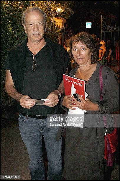 Patrick Chesnais and Josiane Stoleru at 25th Anniversary Of Ramatuelle Festival Celebrations Last Day