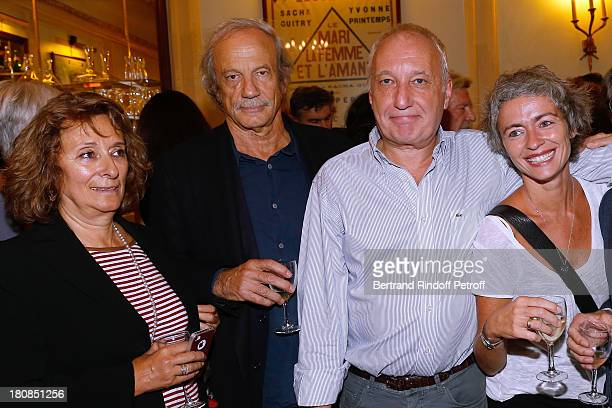 Patrick Chesnais with his companion Josiane Stoleru and actor Francois Berleand with his wife Alexia Stresi attends 'Nina' Premiere at Theatre...
