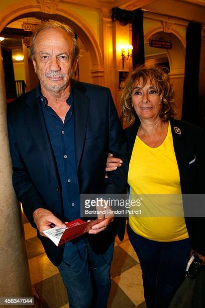 Patrick Chesnay and his wife Josiane Stoleru attend the tribute to Gisele Casadesus celebrating her 100th anniversary at Theatre Edouard VII on...
