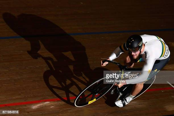 Patrick Constable of Australia competes in the Elite Men's Sprint during the International Track Cycling Grand Prix Series at Darebin International...