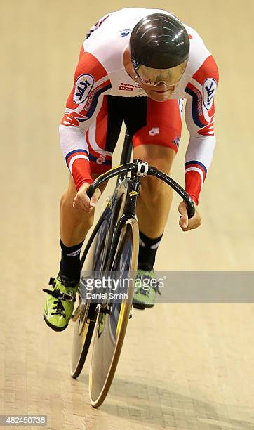 Patrick Constable of South Australia competes in the qualifying round of the Men's 200m Sprint during the 2015 National Track Cycling Championships...