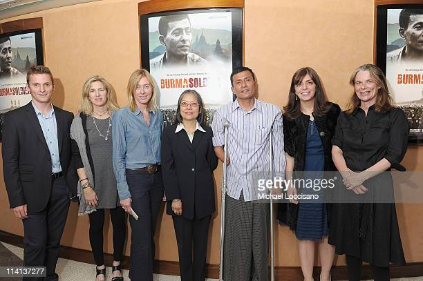 Patrick CookDeagan of the US Campaign for Burma filmmakers Ricki Stern and Annie Sundberg Director of the Burma Project at OSI Maureen AungThwin film...