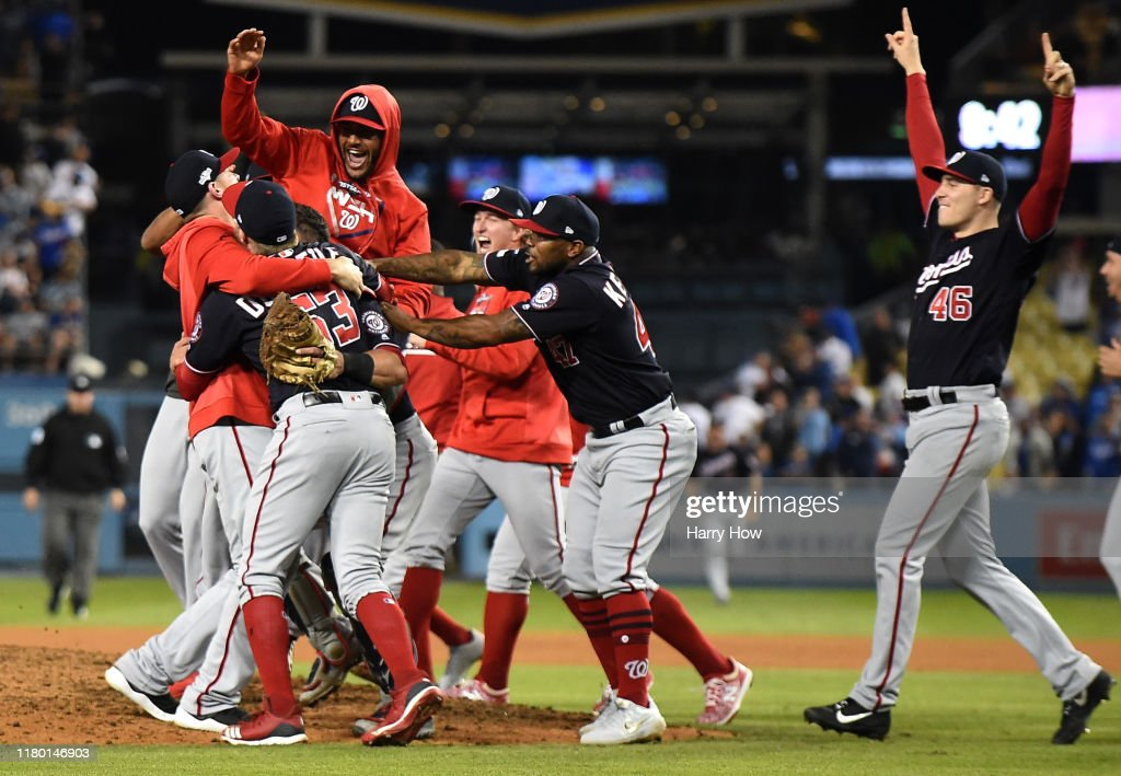 Divisional Series - Washington Nationals v Los Angeles Dodgers - Game Five : News Photo