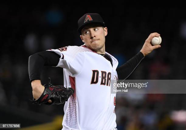 Patrick Corbin of the Arizona Diamondbacks delivers a first inning pitch against the Pittsburgh Pirates at Chase Field on June 11 2018 in Phoenix...
