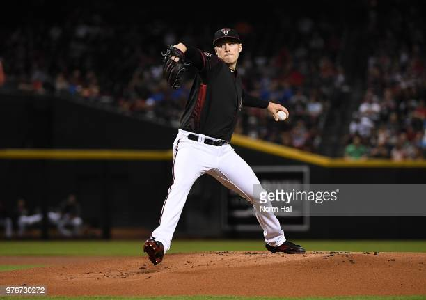 Patrick Corbin of the Arizona Diamondbacks delivers a first inning pitch against the New York Mets at Chase Field on June 16 2018 in Phoenix Arizona