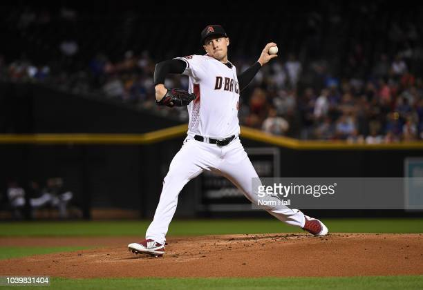 Patrick Corbin of the Arizona Diamondbacks delivers a pitch against the Chicago Cubs at Chase Field on September 17 2018 in Phoenix Arizona
