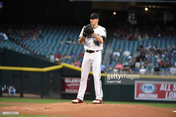 Patrick Corbin of the Arizona Diamondbacks delivers a pitch against the Pittsburgh Pirates at Chase Field on May 12 2017 in Phoenix Arizona