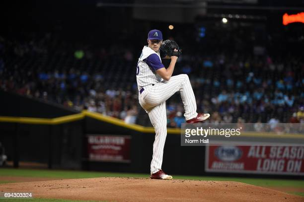 Patrick Corbin of the Arizona Diamondbacks delivers a pitch against the San Diego Padres at Chase Field on June 8 2017 in Phoenix Arizona