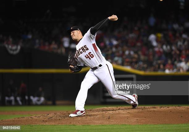 Patrick Corbin of the Arizona Diamondbacks delivers a pitch against the Los Angeles Dodgers at Chase Field on April 4 2018 in Phoenix Arizona