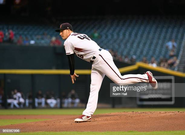 Patrick Corbin of the Arizona Diamondbacks delivers a pitch against the Milwaukee Brewers at Chase Field on May 14 2018 in Phoenix Arizona