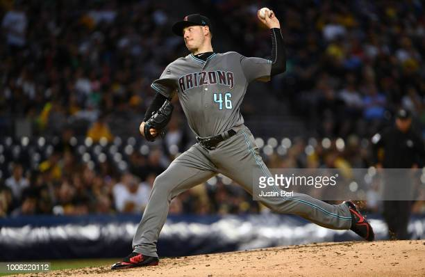 Patrick Corbin of the Arizona Diamondbacks delivers a pitch during the game against the Pittsburgh Pirates at PNC Park on June 22 2018 in Pittsburgh...