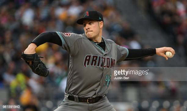 Patrick Corbin of the Arizona Diamondbacks delivers a pitch in the third inning during the game against the Pittsburgh Pirates at PNC Park on June 22...